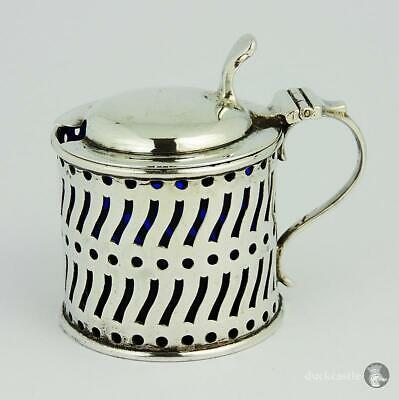 VICTORIAN STERLING SILVER Pierced MUSTARD POT Sheffield 1894 Atkin Brothers