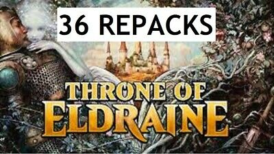 THRONE OF ELDRAINE Magic: the Gathering REPACK 36 Pack Booster Box FREE SHIPP.