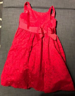 NWT Janie /& Jack Classic Special Occasion Red Brocade Dress Size 12 Retail $119