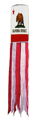 """California WindSock 60"""" Embroidered State of California Windsock USA SHIPPER"""