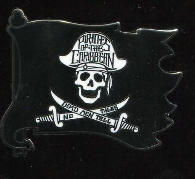 Pirates of the Caribbean Skull and Crossed Swords Flag Disney Pin 122237