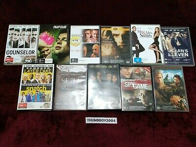 Brad Pitt DVD BULK MOVIE Collection! Choose film titles from Drop-down