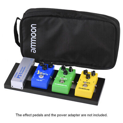 ammoon DB-1 Mini Aluminum Alloy Guitar Pedal Board with Carrying Bag Tapes C4F1