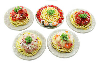 Mixed 5 Assorted Spaghetti Dollhouse Miniature Food,Tiny Food, Barbie Food