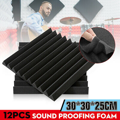 12/24/36Pcs Acoustic Wall Panels Sound Proofing Studio TreatmentsTool