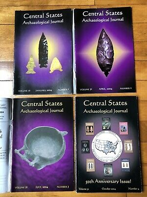 CENTRAL STATES ARCHAEOLOGICAL JOURNALS 2004  4 Magazines, Full Year