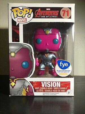 Funko POP! Marvel #71 VISION [Metallic] -Avengers Age Of Ultron- (FYE Exclusive)
