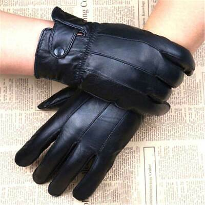 Mens Real Leather Gloves Thermal Thinsulate Lined Driving Soft Warm Winter New