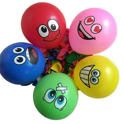 10pcs lot Latex Balloons Printed Big Eyes Happy Birthday Party Decoration KQ