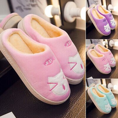 Winter 0Women's Plush Fuzzy Slippers Fluffy Slip On Indoor Outdoor Flats Shoes