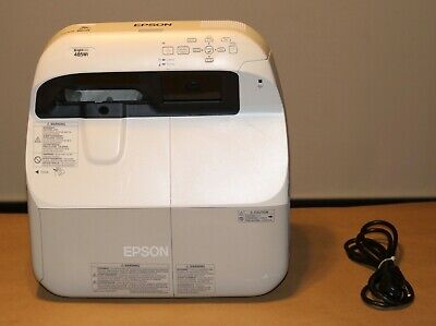 Epson H452A BrightLink 485Wi 3LCD Interactive HDMI Projector 1079 Hours .TESTED