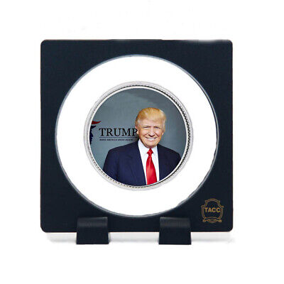 Business Souvenir Gifts Donald Trump Silver Coin 999.9 Silver Coin with Stand