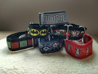 """1.5"""" Wide House/Martingale Collar - Whippet/Saluki/Greyhound/Other Breed"""