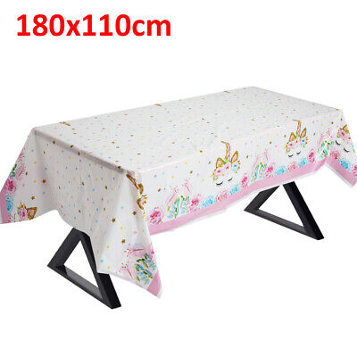 Unicorn Tablecloth Disposable Party Table Cover for kids birthday party decor UK