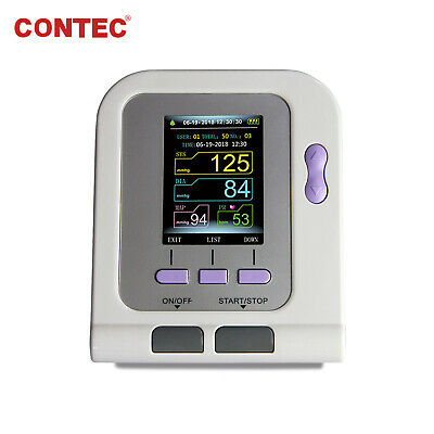 CONTEC08A Color LCD Digital Blood Pressure Monitor upper Arm Adult BP Cuff+PC SW