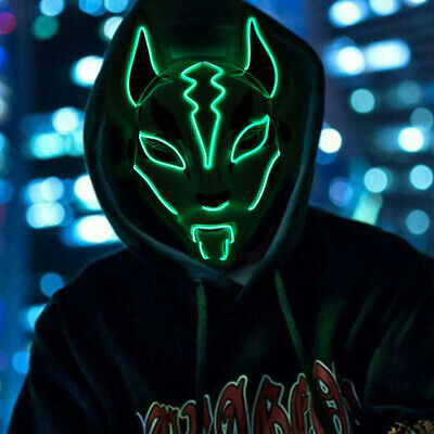 Fortnite Fox Drift Mask Hand Painting Animal Mask Halloween Party Cosplay Prop