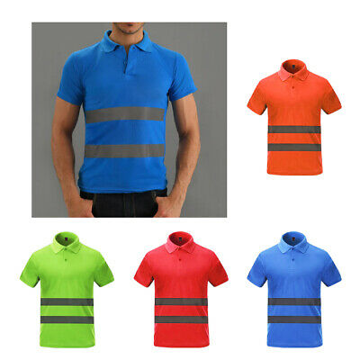 Reflective T-Shirt Safety Quick Dry High Visibility Workwear Short Sleeve