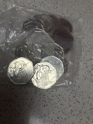 Brand New 2019 Paddington Bear Tower Of London 50p Sealed Bag Uncirculated
