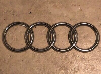 For Audi Rings Chrome Grill Front Hood A3 A4 S4 A5 S5 A6 SQ7 TT Badge Emblem use