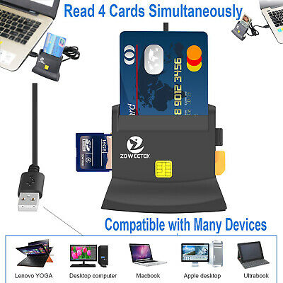 All in  One Multi Card Reader Credit Card SD Memory card ID card CCID Reader USB
