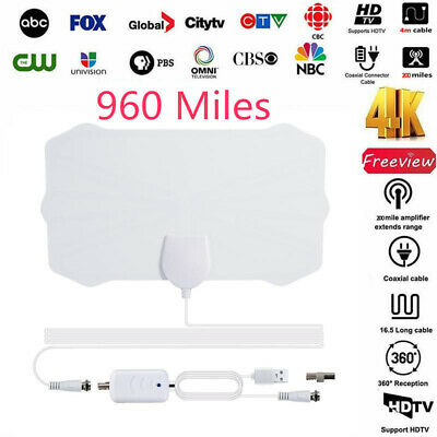960 Mile Range Antenna with Amplifier TV Digital 1080P HD HDTV 4K Skywire Indoor