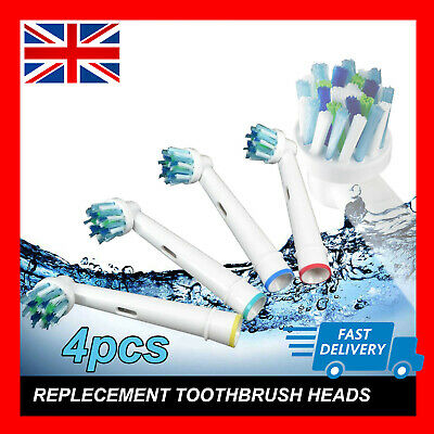 Oral B Compatible Electric Toothbrush Replacement Brush Heads x4