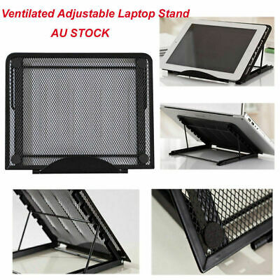 Metal Ventilated Adjustable Laptop Stand Mount For iPad Samsung Huawei Tablets