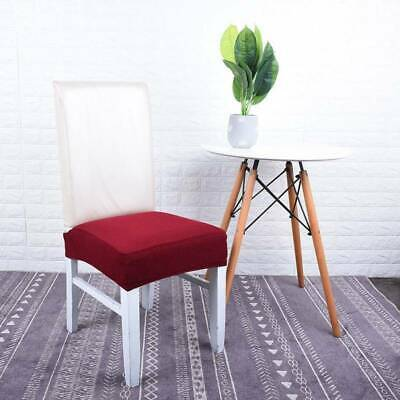 Removable Stretch Chair Covers Slipcovers Dining Room Stool Seat Cover Decor CA