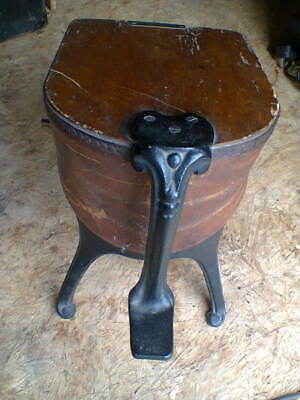 Old Antique Foot Bellows – Cast Iron & Wood. Gran Dad's Loft Find, Collectors
