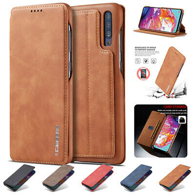 PU Leather Wallet Flip Stand Card Holder Case Fr Samsung Galaxy A10 A20e A40 A50