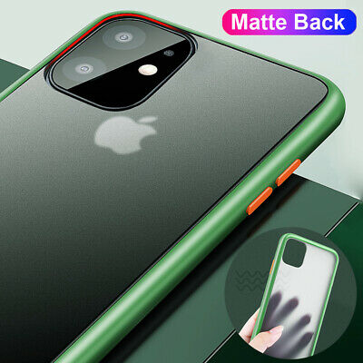 Shockproof Matte Back Hybrid Bumper Hard Case Cover for iPhone 11 Pro Max XS XR