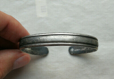 Ancient Viking Silver bracelet with ornament. REALLY RARE TYPE