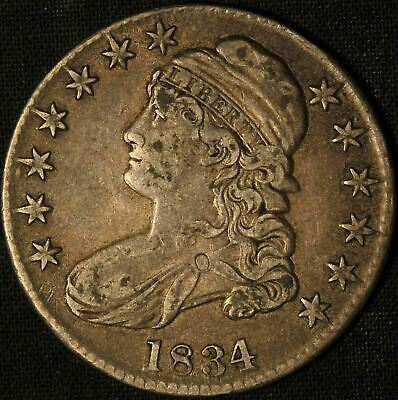 1834 Capped Bust Half Dollar  - Free Shipping USA