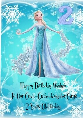 Prime Elsa Personalised Birthday Card Large A5 Frozen Disney Princess Funny Birthday Cards Online Barepcheapnameinfo