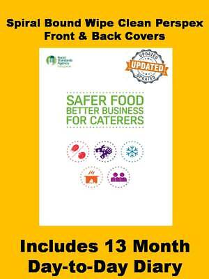 SFBB Food Hygiene Record System Book & Diary for Caterers Restaurants Takeaways