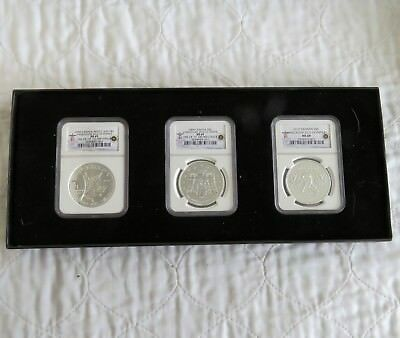 CANADA 2010 VANCOUVER OLYMPICS 3 x $5 .9999 FINE SILVER - SLABBED NGC MS69