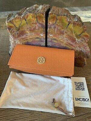 NEW TORY BURCH Orange Sunglass/Glass Case  - Pouch and Booklet