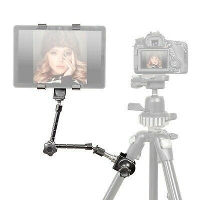 Tablet Bracket Mount Kit With Adjustable Magic Arm and Padded C-Clamp