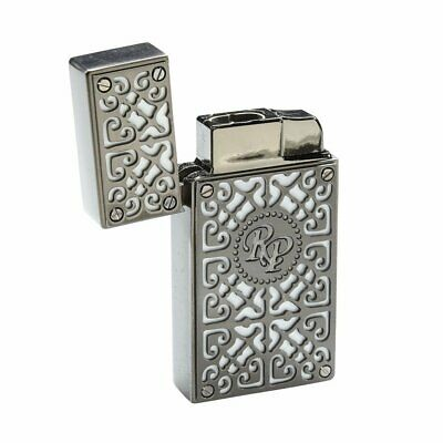 Rocky Patel Double Flame Torch Cigar Lighter - White and Silver