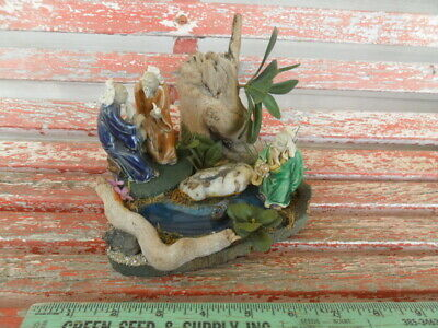 Vintage Oriental Chinese Pottery Mud Men 3 with Pond Duck