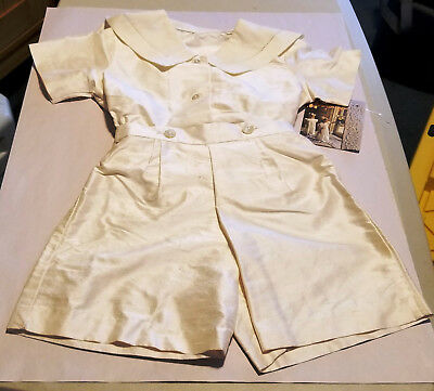 Vintage Hollydays Child's 2piece Outfit Romper Sailor Flap Collar 2T NWT