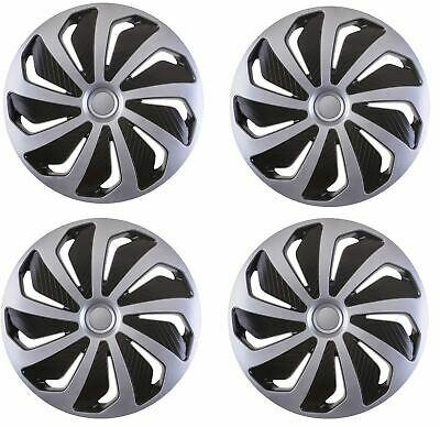 "Hub Caps 4x15/"" wheel trims Covers to fit Seat Ibiza,Leon,Toledo,Altea XL"