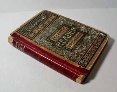 1879 McGuffey's Fourth Eclectic Reader - Antique School Book