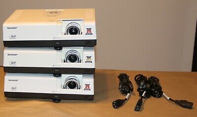 Sharp Projector PG-D2510X DLP 3D -  45minutes, 312 and 2805 Hours Lot of 3