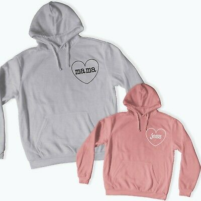 Mother Mama & Daughter Twinning Matching Hoodies Personalised Mother's Day 111