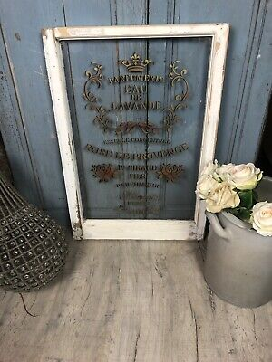 Vintage Window With French Cafe Style Writing