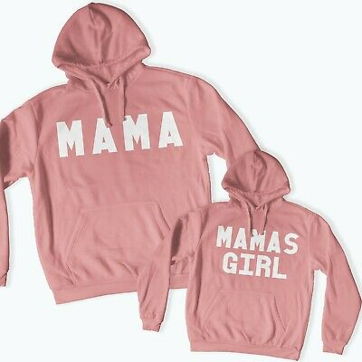 Mama & Mamas Girl Twinning Matching Hoodies Mother's Day Mother Daughter 112