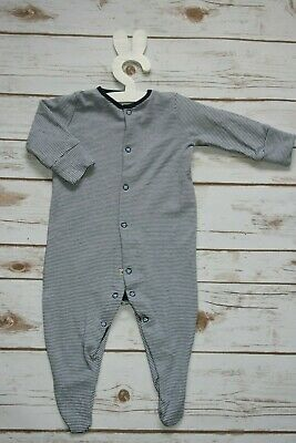 Ex Store Baby Boys Dino Stripe 3 Pack Sleepsuits Babygrow Age 0 3 6 Months NEW