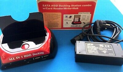 NEW DOCKING STATION HDD HARD DISK 3,5 2,5 SATA IDE 1 HD HDD BOX eSATA - USB