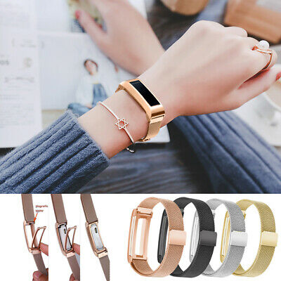 Hot!Accessory Milanese Mesh Steel Wrist Band+Metal Cover For Fitbit Alta/HR/Ace